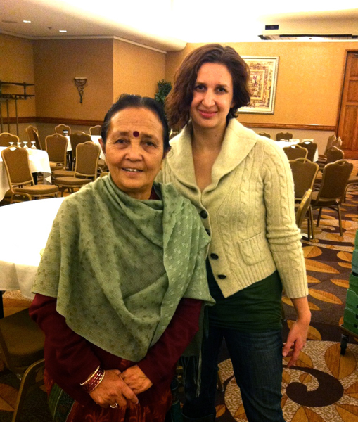Maiti organizer Anuradha Koirala with the author.