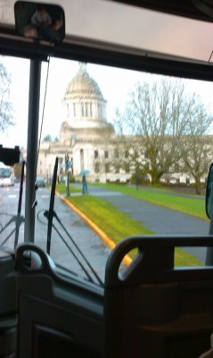 Muslim Day at the Capitol 2010 - Arriving at Olympia in the Bus from MAPS