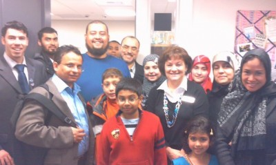 Dawoud and fellow citizens with Rep. Deborah Eddy