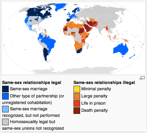 Ten countries that were ahead of Washington on same-sex