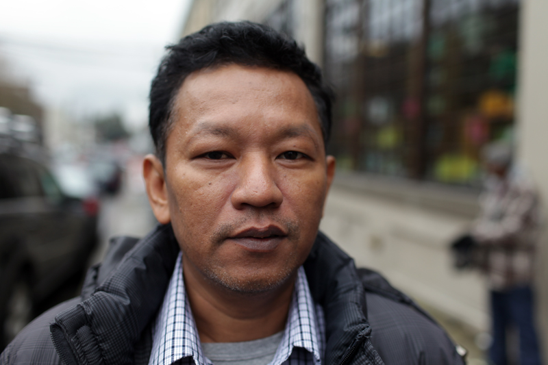 Bo Kyi was held by the Burmese military junta for seven years. (Photo by Alex Stonehill)