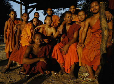 Buddhist monks in Phnom Penh
