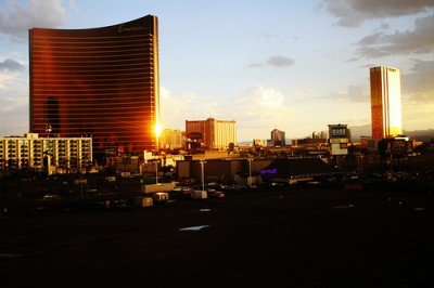 Las Vegas strip sunrise