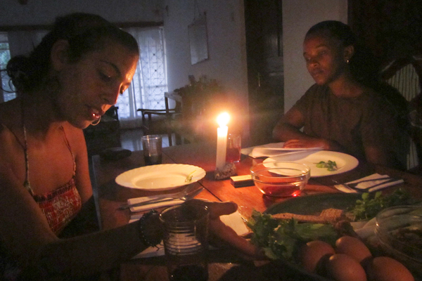 Celebrating Passover by candlelight in Tanzania