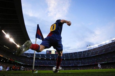 Barcelona corner kick