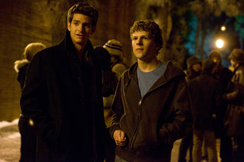 That guy on left is not actually Eduardo Saverin (he may really be Spiderman though)