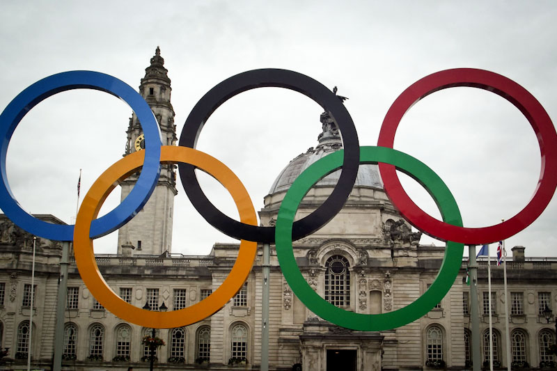 Olympics Rings displayed in Great Britain (Photo by Andrew Evans)