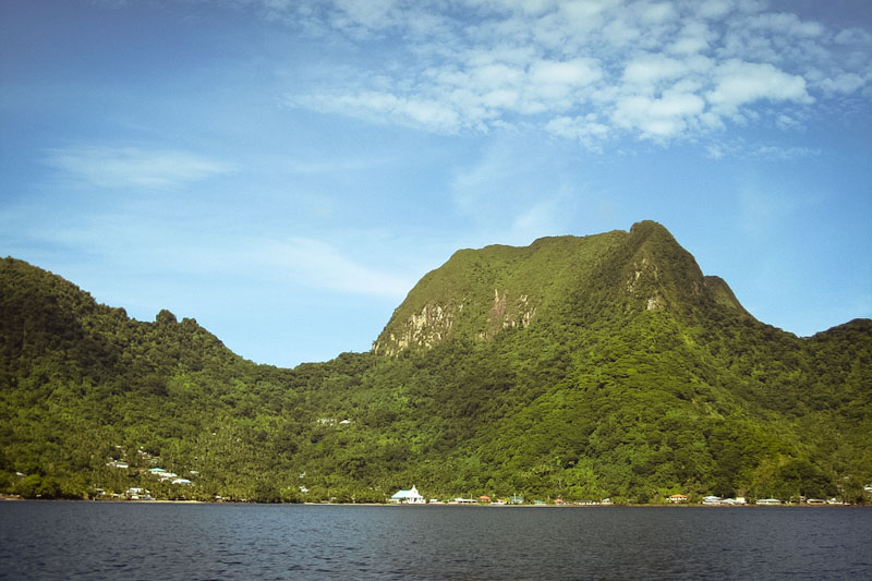 Pago Pago, on the island of Tutuila, is the capital of American Samoa. The South-Pacific islands have a similar climate to Hawaii. (Photo from NOAA via Flickr)