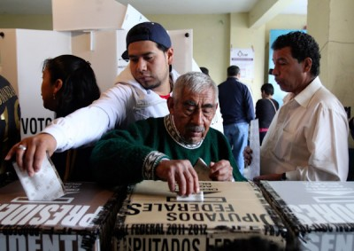 People cast their votes in Mexico City