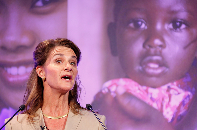 Melinda Gates spoke at the London Summit on Family Planning July 11th. Photograph: Russell Watkins/Department for International Development via Flickr.