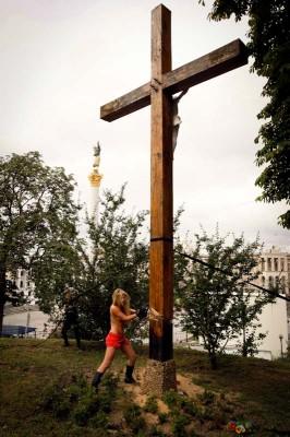 Femen Ukraine Pussy Riot protest