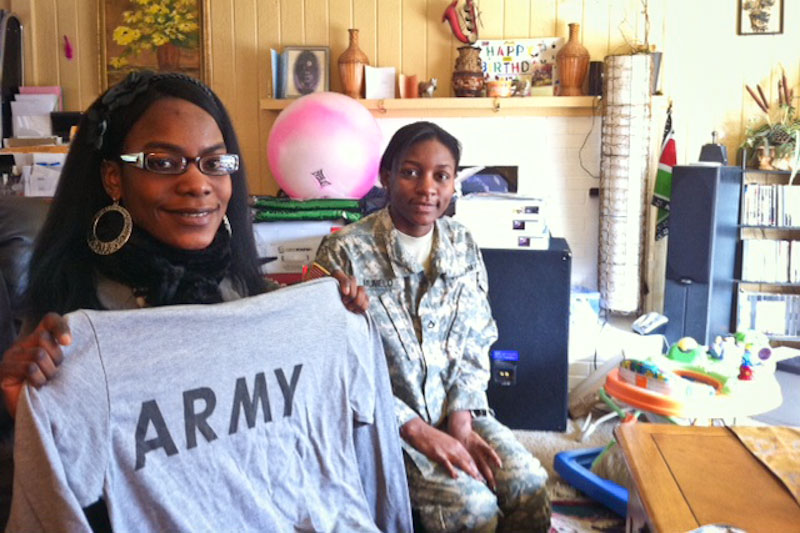 The Memelo siblings, recent immigrants from Kenya, represent what recruiters hope will be a new face of the US military. (Photo by Sarah Stuteville)