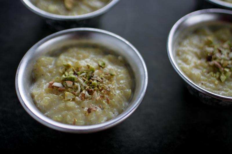 Kheer, a rice pudding-like Indian dessert, in honor of Diwali. (Photo by Mohini Patel Glanz aka mangopowergirl)