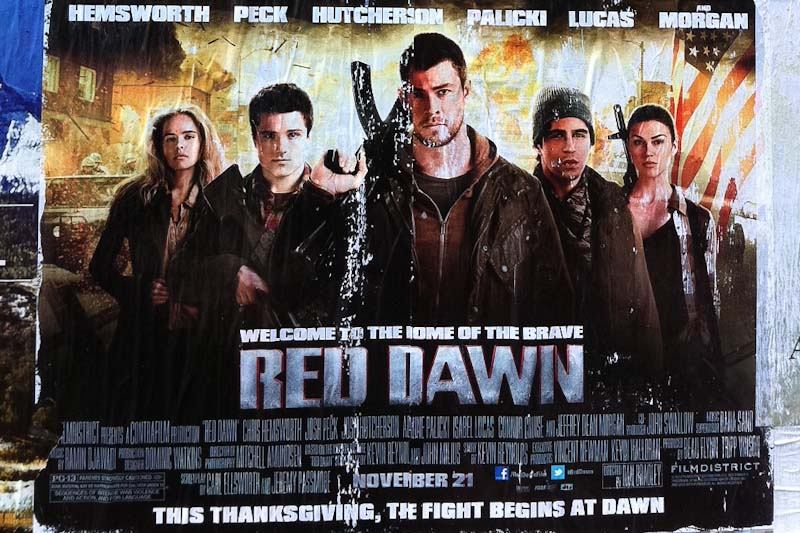 A North Korean army (or is it Chinese?)  invades Spokane in the remake of Red Dawn, opening this weekend. (Photo by Sarah Stuteville)