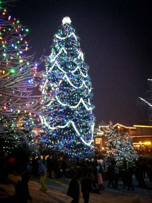 The Leavenworth Christmas tree. (Photo by Michelle Conerly)