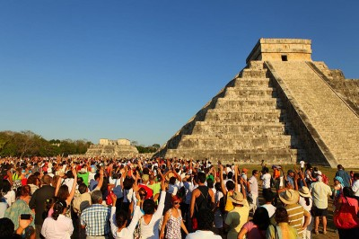 Chichen Itza, one of the largest Mayan cities, is preparing to party all night. But they're maybe one of the few countries not celebrating the end of the world. (Photo via flickr by Nicolas Karim)