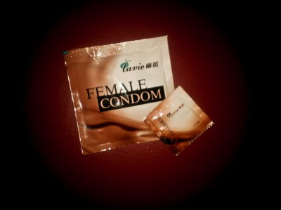 PATH's condom with lubricant pack.