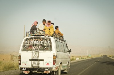 Public transportation in South Waziristan, in the lawless Tribal Areas between Pakistan and Afghanistan. (Photo by Gohar Masud)