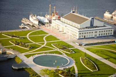 An ariel view of the new Museum of History and Industry (MOHAI) in South Lake Union. (Photo courtesy MOHAI)