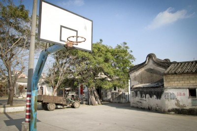 The obligatory basketball court in a southern Chinese village. (Photo by Brendan O'Reilly)