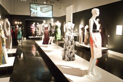 Designs from Trina Turk, Naeem Khan, Vera Wang, Andy South, Monique Lhuillier, Jason Wu and others at the Fashion: From Workroom to Runway exhibit. (Courtesy of Wing Luke)