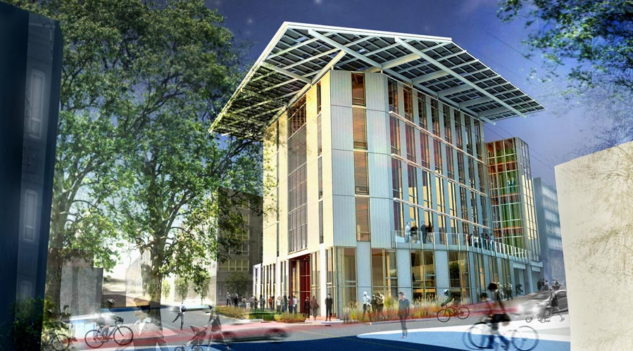 Rendering Of The Bullitt Center. (Image From The Miller Hull Partnership).