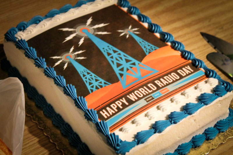 World Radio Day Cake
