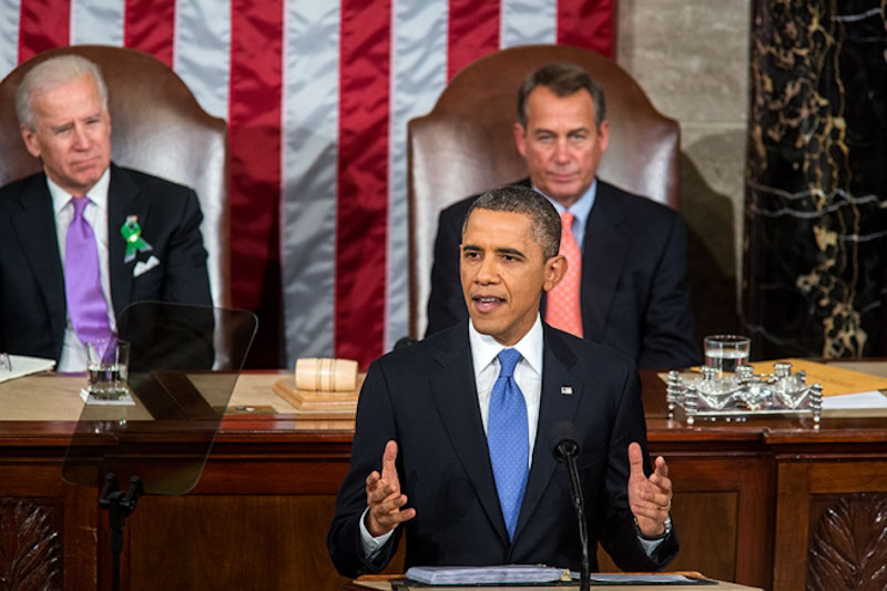 President Obama delivers the State of the Union Tuesday (Photo by Chuck Kennedy)