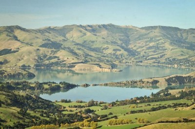 Banks Peninsula, a natural area just across the bay from Christchurch. (Photo courtesy Christchurch City Council)
