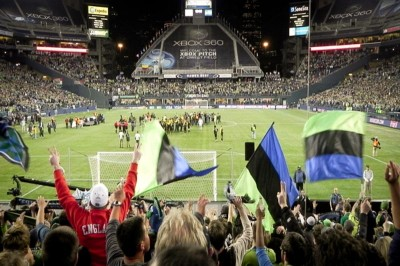 After a Sounders' victory in 2010 (Photo by Mackenzie Ciesa)