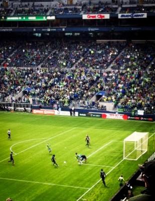 Seattle Sounders vs. Philadelphia Union, May 5, 2012. (Photo by Mackenzie Ciesa)