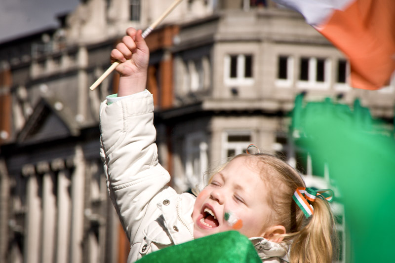 "A young Dubliner gets in the St. Patrick's Day spirit. (Photo by <a href=""http://www.flickr.com/photos/51168133@N00/2344312878/"">Florian Knorn</a>)"