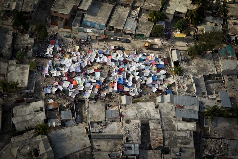 An impromptu tent city that sprung up following the 2010 earthquake in Haiti. (Photo & Seattleu0027s tent cities are a local reflection of global slum ...