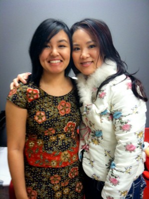 Jenilee Policarpio and Susan Lee from Refugee Women's Alliance. (Photo by Jill Mangaliman)