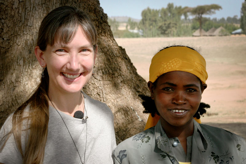 The author and Mari Tuji in Kelecho Gerbi, Ethiopia. Before a water system was built by Seattle Nonprofit Water 1st, Mari walked four hours each day to collect water for her family. (Photo by Marla Smith-Nilson)