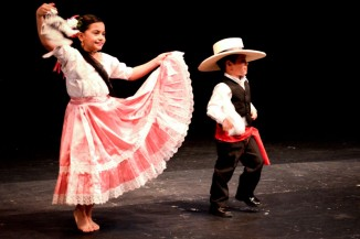 Students from the Academy of Peruvian Dancers perform at the International Children's Friendship Festival. (Photo by Valeria Koulikova)