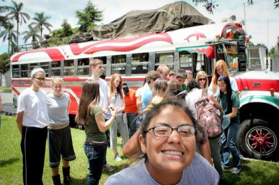 Elayne Flicker and other Seattle high school students visit Guatemala in a Global Visionaries study abroad program last year. (Photo by Reagan Jackson)