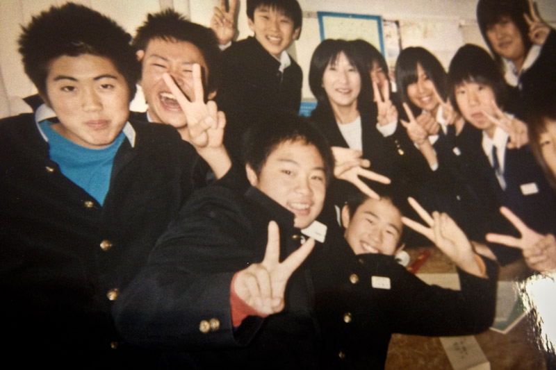 The author's Japanese students. (Photo by Reagan Jackson)