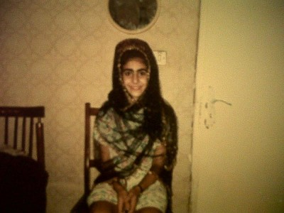 The author at 10, during her first visit to Iran. (Photo courtesy Mahroo Keshavarz)