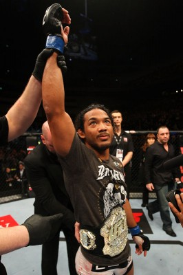 Benson Henderson after winning the UFC Lightweight Championship belt in Saitama, Japan. (Photo courtesy UFC)