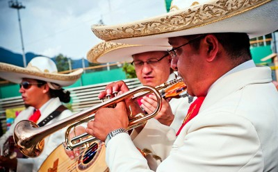 A mariachi band performs at a Cinco de Mayo party in the U.S. (U.S. Army Korea (Historical Image Archive) via Compfight cc)