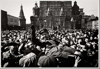 The celebration in Moscow's Red Square on the first Victory Day in 1945.
