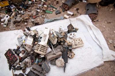 eWaste scrap collected in Karachi, Pakistan. (Photo by Alex Stonehill)