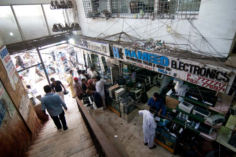 A huge electronics market in Pakistan, selling both new and used computers. (Photo by Alex Stonehill)