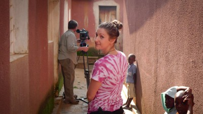 """Finding Hillywood"" directors Chris Towey and Leah Warshawski on location in Rwanda January 2010. (Photo by Todd Soliday)"