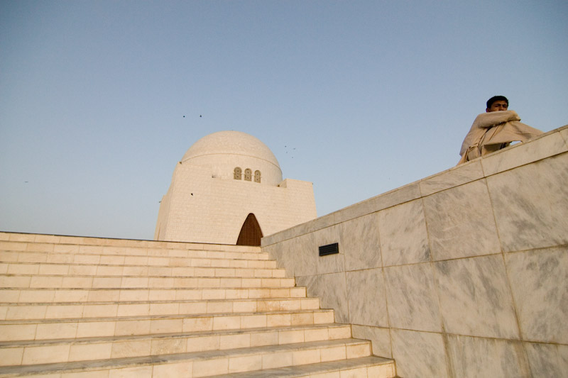 The mausoleum of Pakistan's founder Mohammed Ali Jinnah. (Photo by Alex Stonehill)
