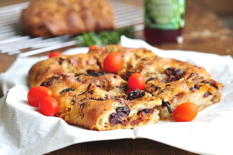 Yvonne Rogell bakes up some savory Italian focaccia bread. (Photo by Yvonne Rogell)
