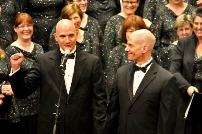 The Seattle Men's Chorus Assistant Artistic Director Eric Lane Barnes (left).