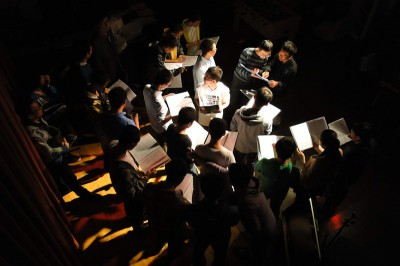 Shining Jazzy Chorus rehearsing in Beijing. (Photo courtesy Landy Van Roy)
