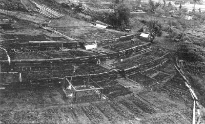 Construction of the Danny Woo Garden in 1975. (Photo courtesy InterIm CDA)